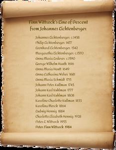 Finn Wittrock is descended from Johannes Lichtenberger.