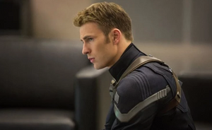 Chris Evans as Captain America, he doesn't like bullies.