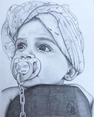 Sandra Robledo Ilusion Art - retrato beb