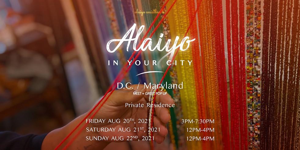 Alaiyo in The DMV | Meet +Greet/Pop-Up 12pm