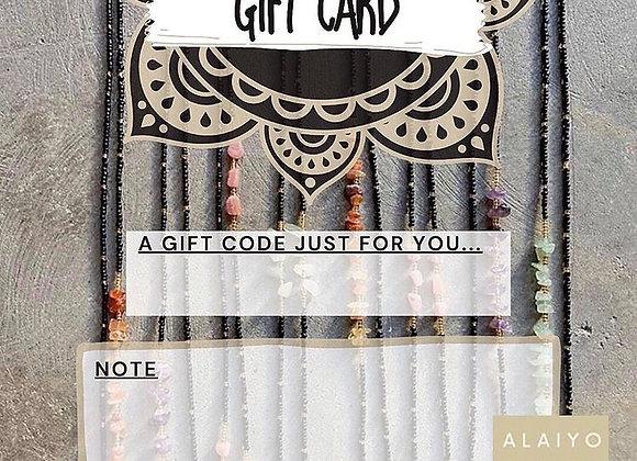 $60 Gift Code Card
