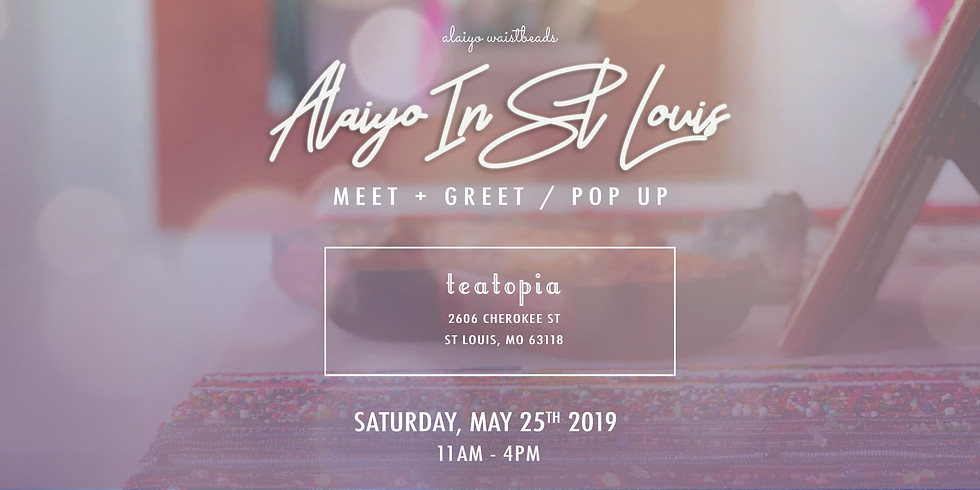 Alaiyo In St. Louis   Meet +Greet/Pop-Up (Day One)