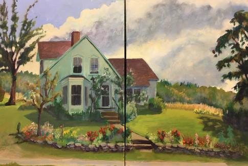 Farmhouse Garden (diptique)