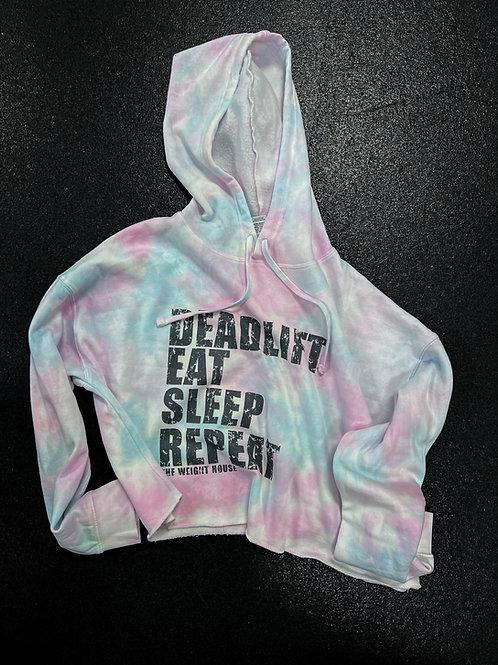 Crop hoodie Deadlift, Eat, Sleep, Repeat
