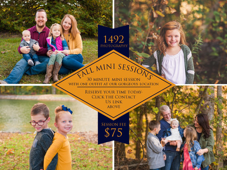 2018 Fall Mini Sessions!