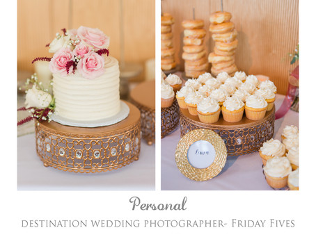 Friday Fives- What we love about weddings!
