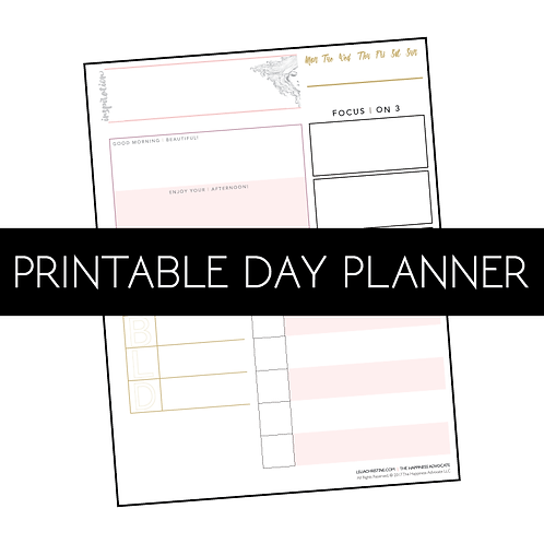 Printable Daily Planner Sheet