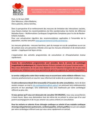 Mise à Jour Recommandations M3C NECKER - COVID-19