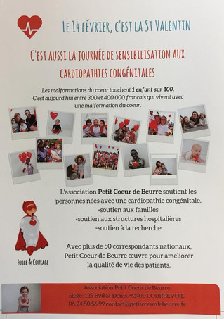 Le 14 février, c'est la journée de sensibilisation aux cardiopathies congénitales