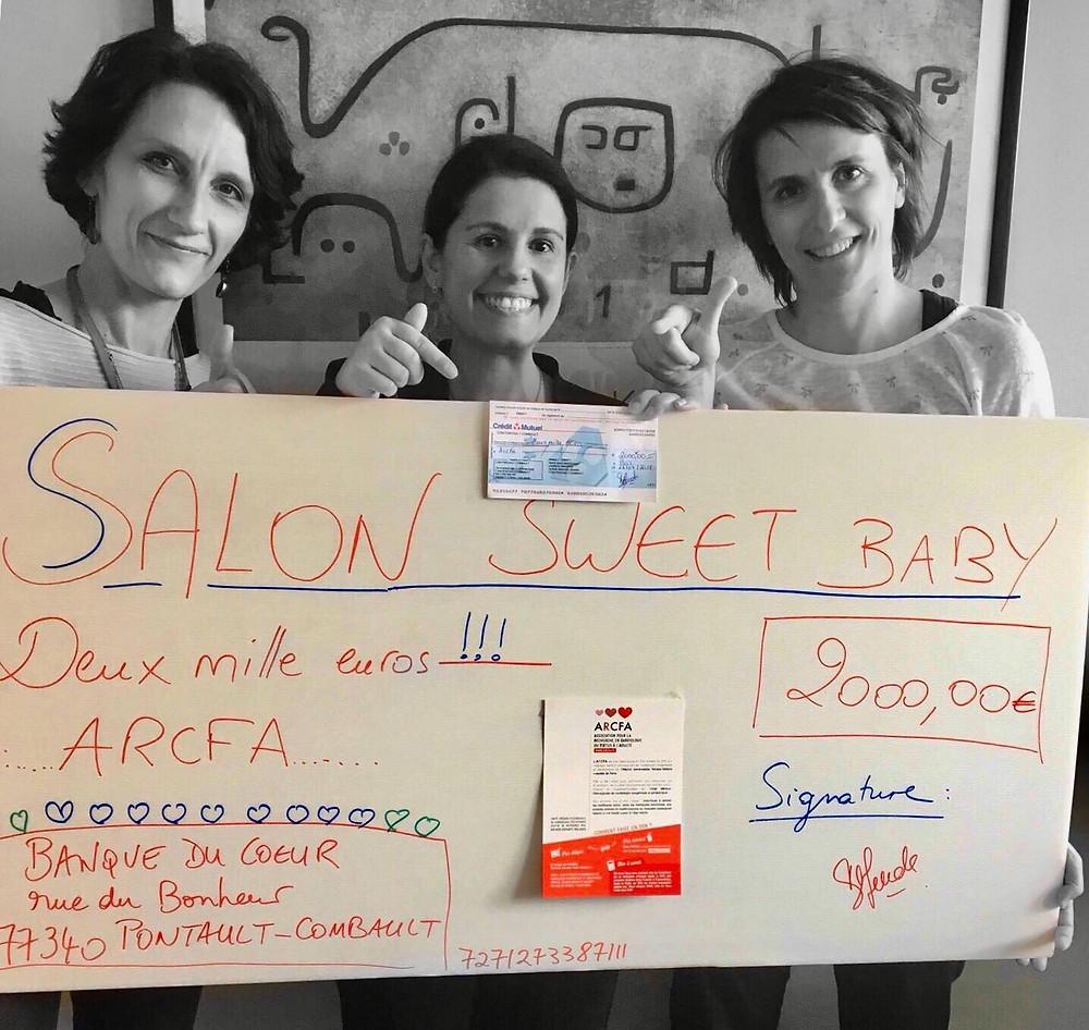Sandrine, Dalia, et Dr Fanny Bajolle pour immortaliser ce moment