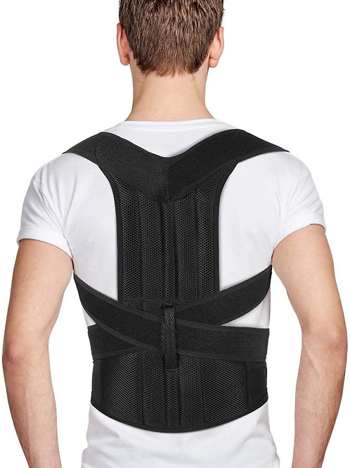 Full Back Support with Adjustable Straps, Posture Corrector for Men and Women