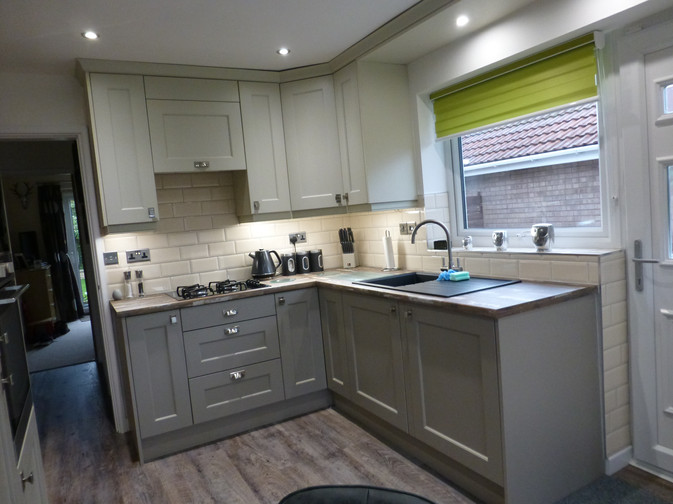 STONE GREY & MUSSEL KITCHEN SUPPLIED & FITTED 2018
