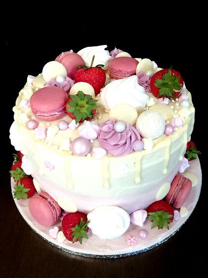 8 Inch Pinks Drip Cake