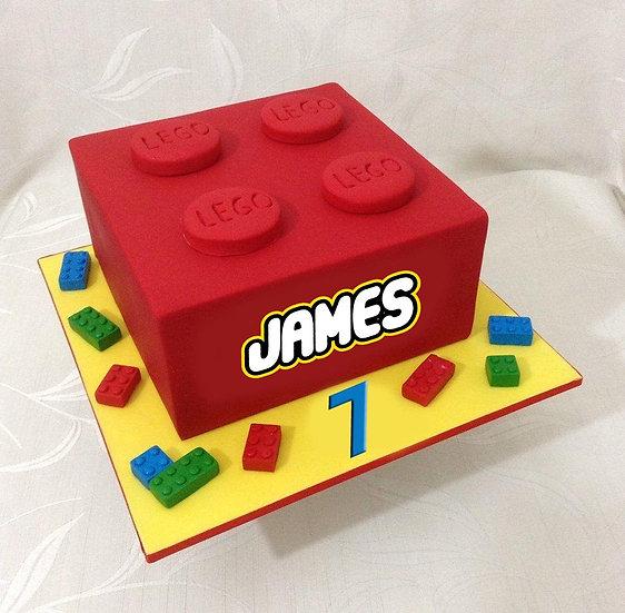 "LEGO Buttercream Cake (8"")"