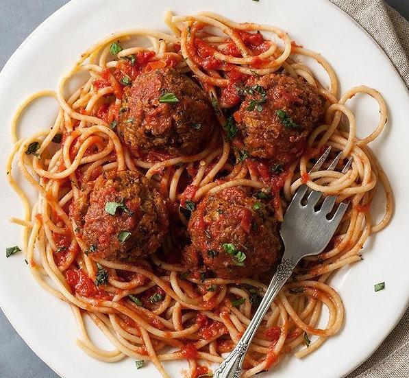 Vegan - Meatballs in Tomato Sauce Spaghetti