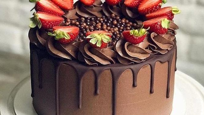 8 Inch Vegan Chocolate Drip Celebration Sponge Cake