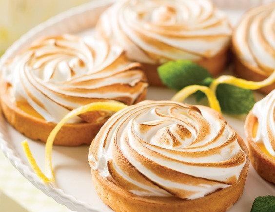 8.5cm Lemon Merinque Tarts - 4 Pack