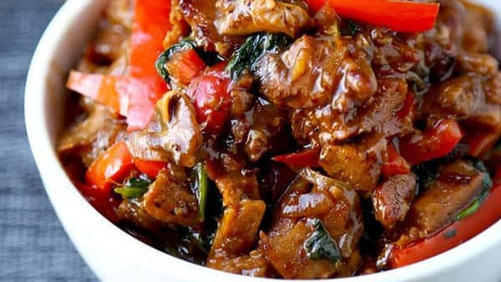 Chinese Sweet & Sour Tempeh with Jasmine Rice