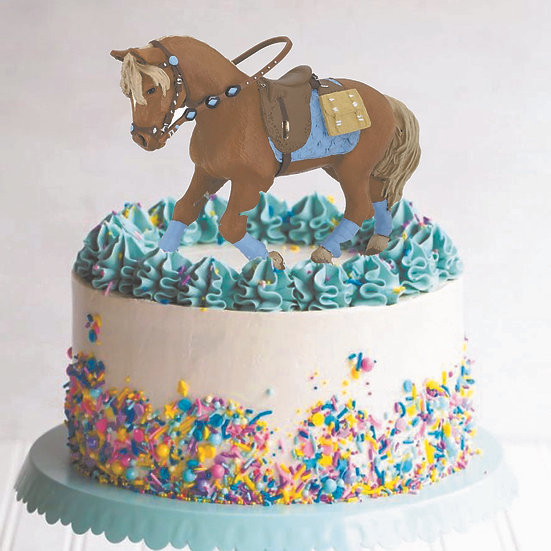 "8"" Horse Theme Buttercream Cake"