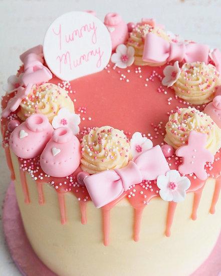 Baby Pinks Small Drip Cake