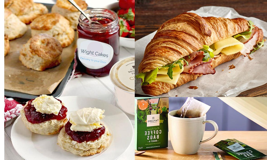 Continental Afternoon Tea/Lunch for 2 (Meat) (Savoury and Sweet)