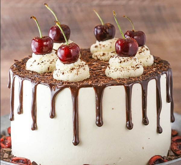 "10"" LUXURY Black Forest Celebration Cake (Tall)"