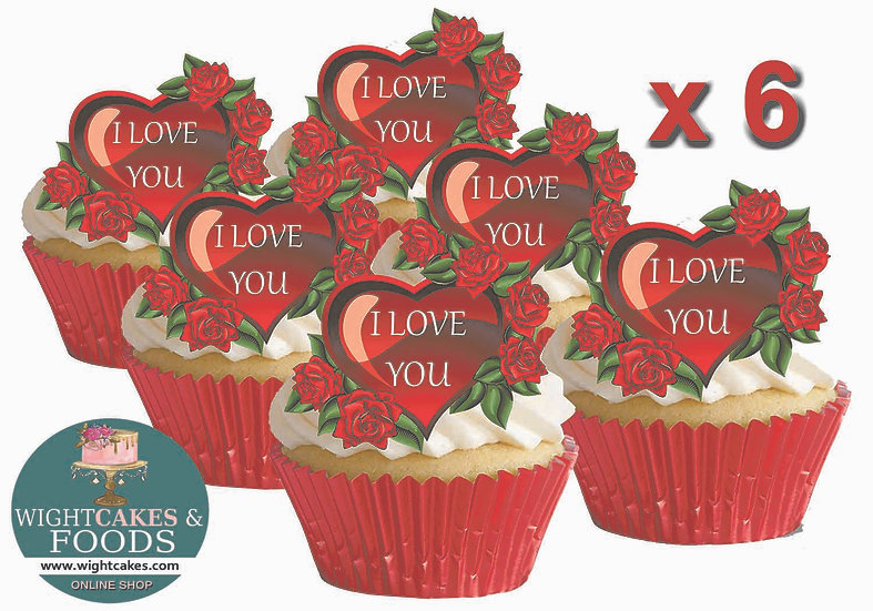I Love You Cupcakes GIFT Box - 6