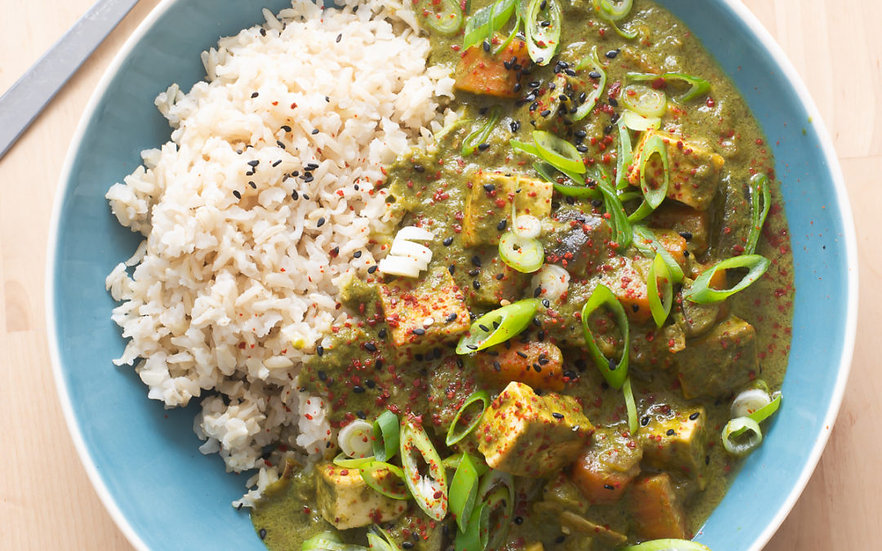 Vegan Thai Green Curry and Rice