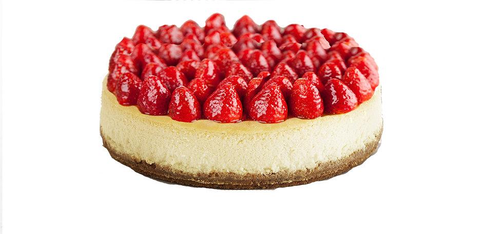 """9"""" Gluten FREE Baked New York Cheesecake - Vanilla & Strawberry"""