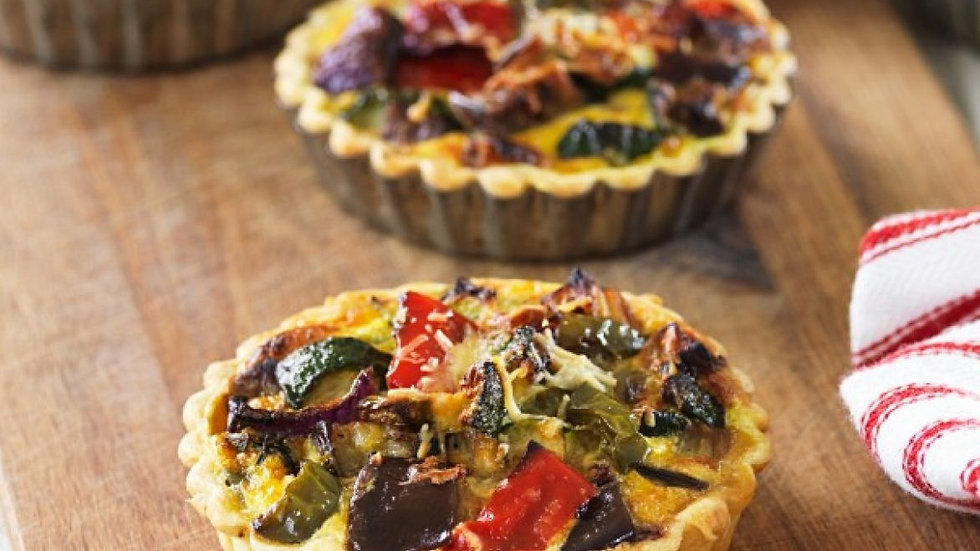 2 x Small Roasted Vegetable Quiche