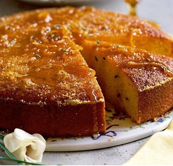 "9"" Gluten Free Orange Polenta Cake"