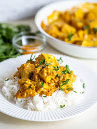 Vegan - Indian Butter Chicken style Curry with Rice