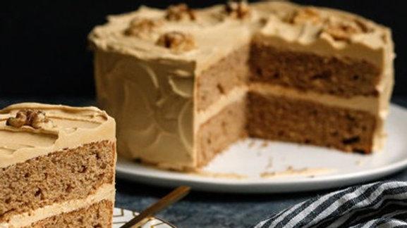8 inch Coffee & Walnut Cake