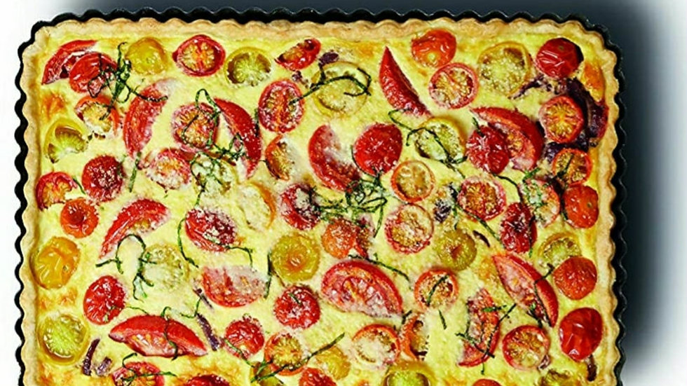 Large Roasted Vegetable Quiche