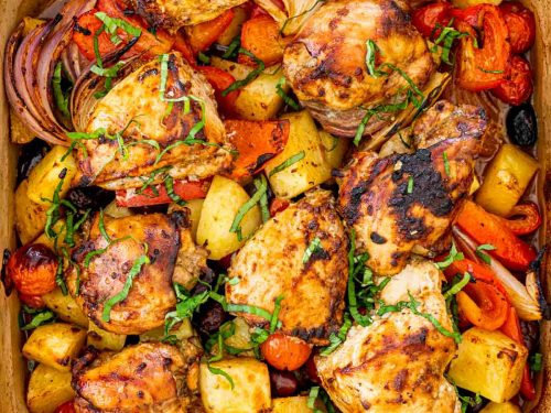 Lemon and Herb Chicken Roast Meal for 2 with Dessert