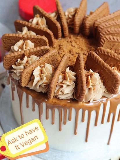 "10"" LUXURY Lotus Biscoff Coffee Cake (Tall)"
