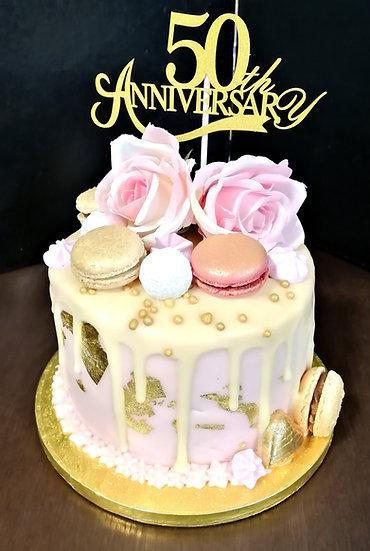 6 Inch Anniversary Cake
