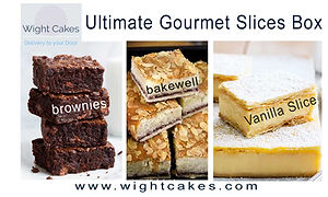 Tray bakes and Chocolate Brownies delivery Isle of Wight