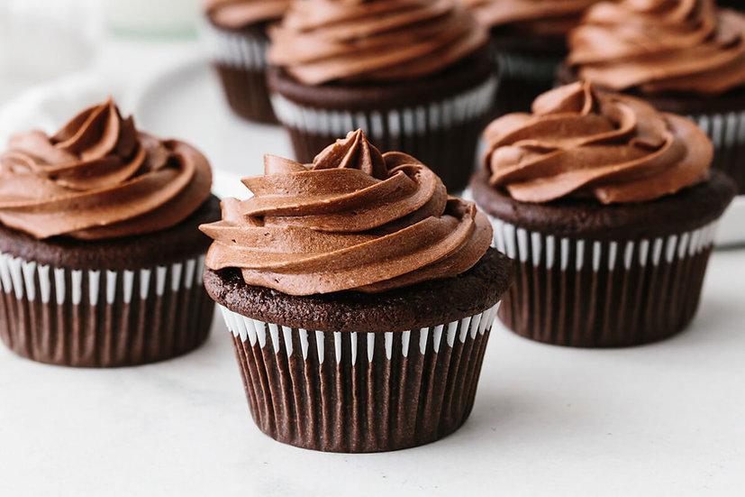 Chocolate Gluten Free Cupcakes - 6 (Vegan)
