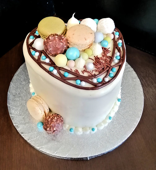 Heart Shaped 6 Inch Buttercream Celebration cake