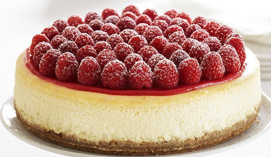 """9"""" Baked New York Cheesecake - Vanilla & Raspberry"""