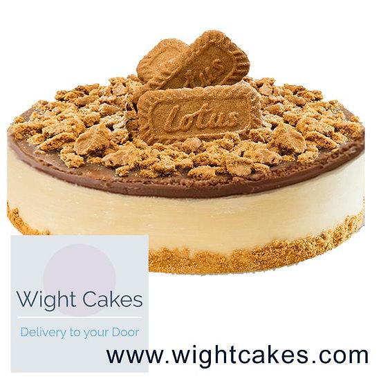 "9"" Baked New York Cheesecake - Lotus Biscof"