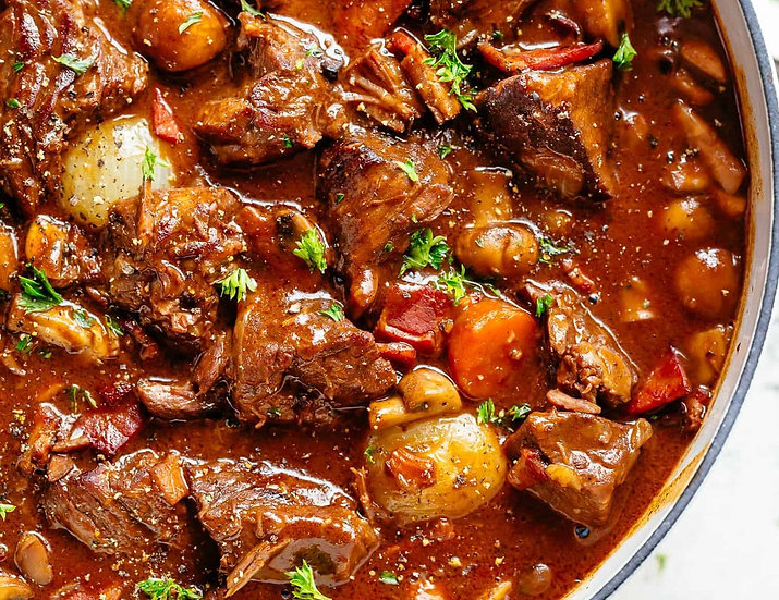 3 Course Beef Bourguignon Meal for 2