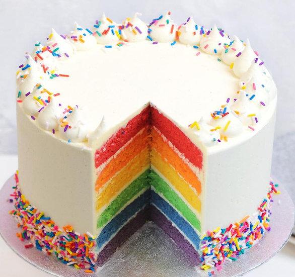 8 Inch Vanilla Rainbow Cake Cake