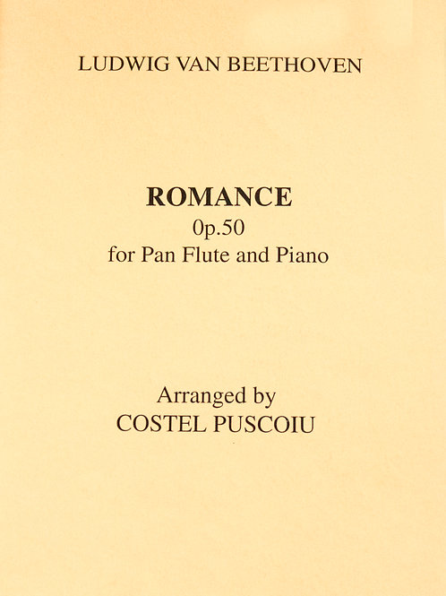 Romance Op. 50 von Costel Puscoiu for Panflute & Piano