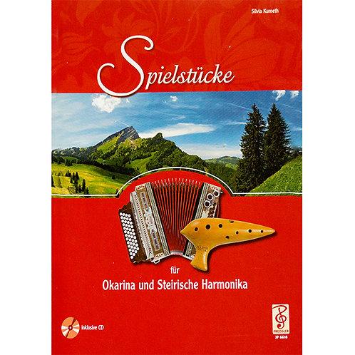 Spielstücke für Okarina und Steirische Harmonika von Silvia Kumeth mit CD