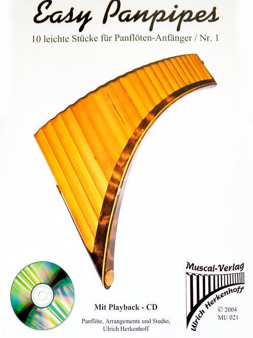 Easy Panpipes1 mit CD von Ulrich Herkenhoff