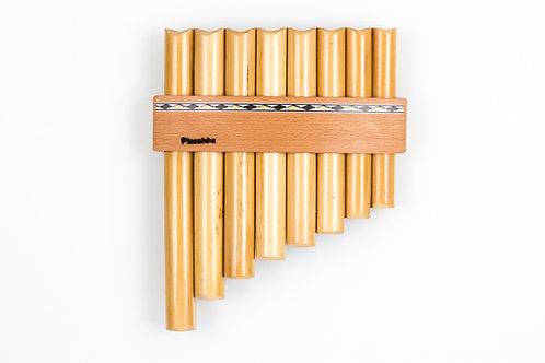 Panflöte R08-Töne/Rohre in C-Dur aus Bambus | Plaschke Instruments