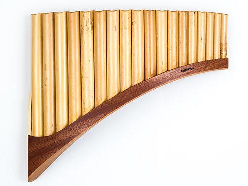 Panflöte S18-Töne/Rohre in C-Dur & G-Dur aus Bambus | Plaschke Instruments