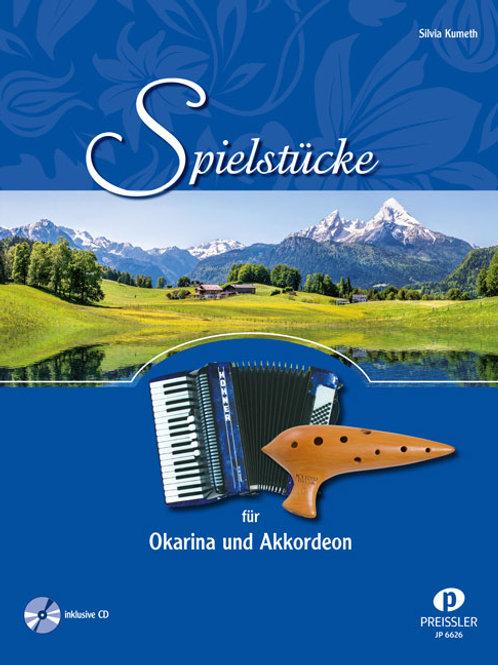 Spielstücke für Okarina und Akkordeon inkl. CD